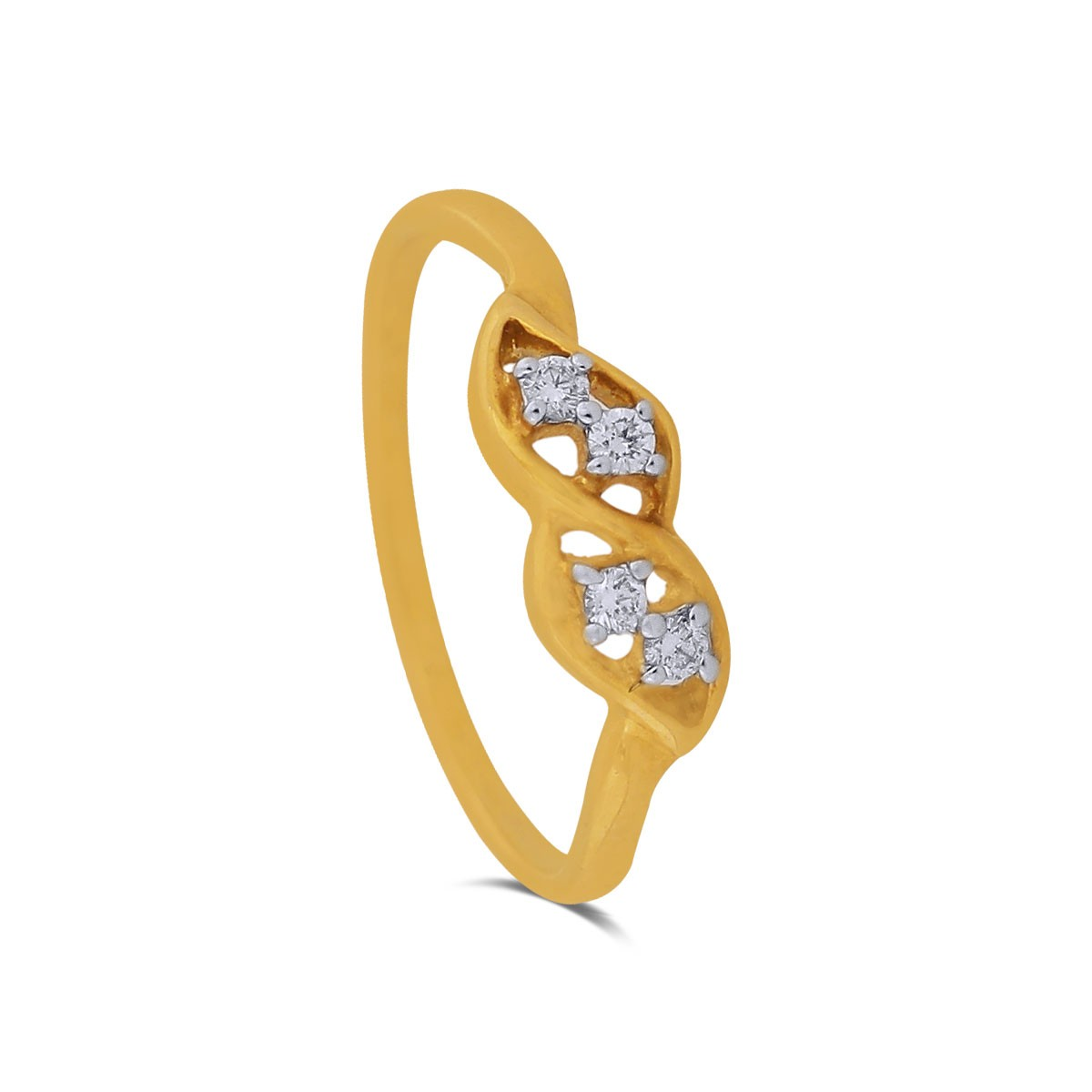 Rochelle Yellow Gold Diamond Ring