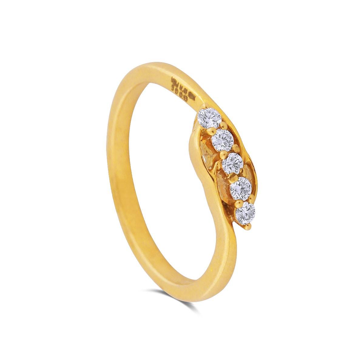 Talika Yellow Gold Diamond Ring