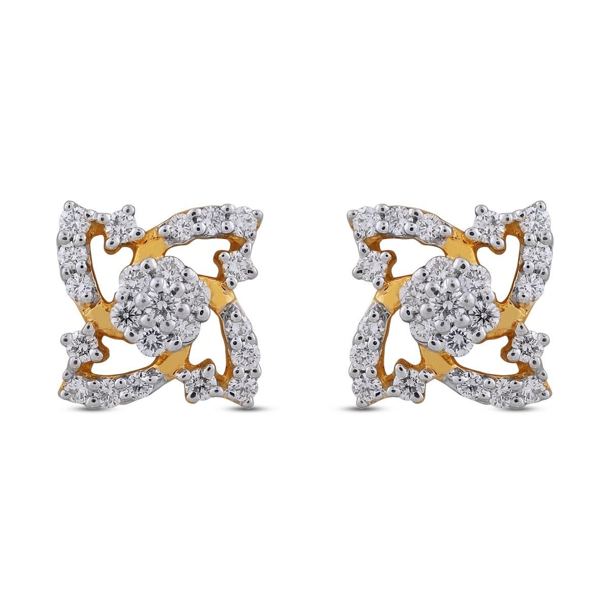 Dianne Diamond & Yellow Gold Earrings