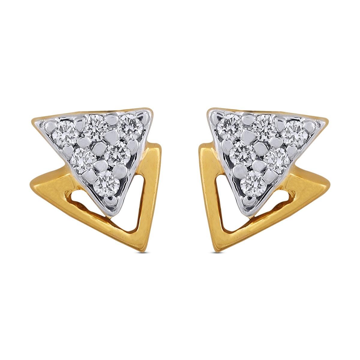 Amalia Diamond & Yellow Gold Earrings