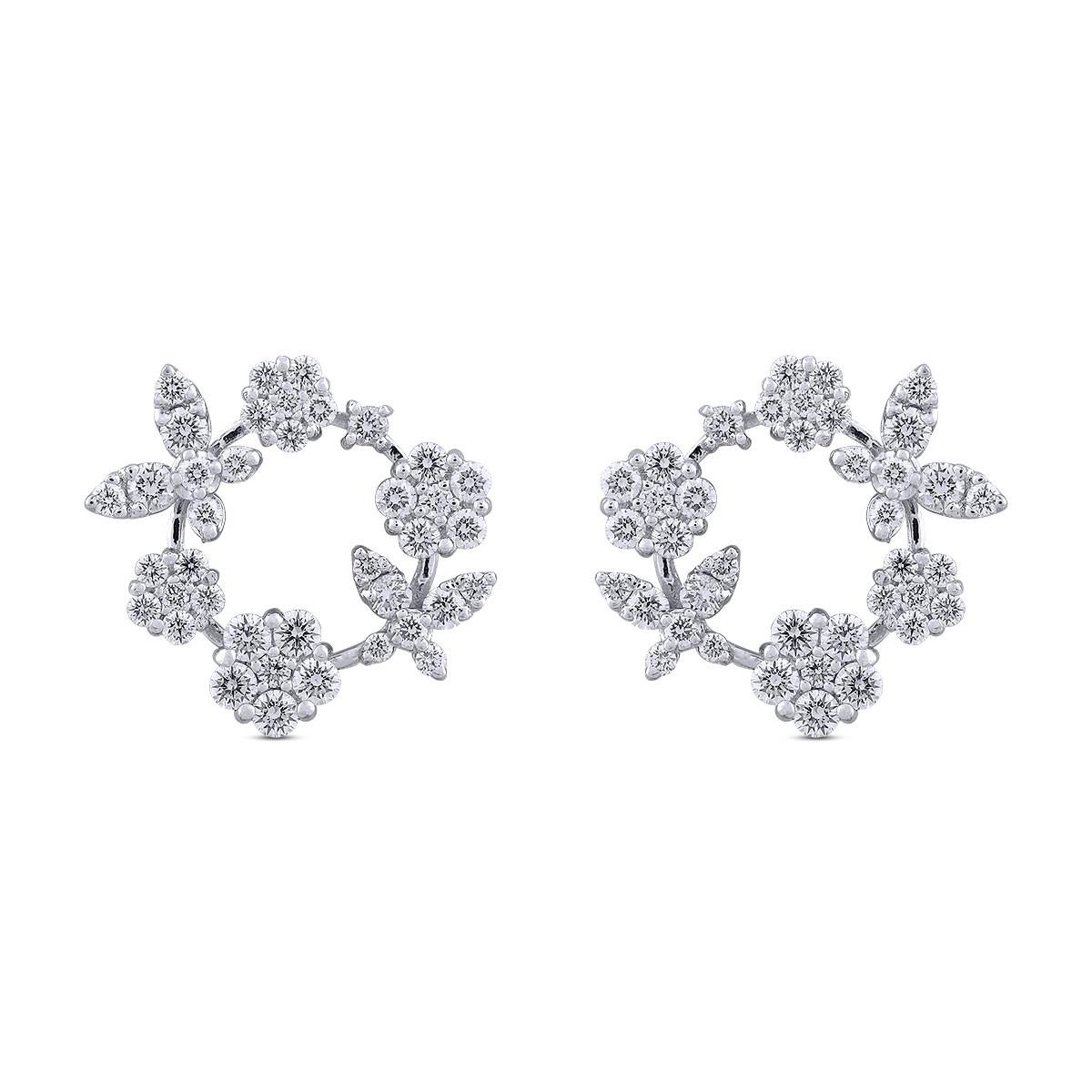Malaika Diamond & White Gold Earrings