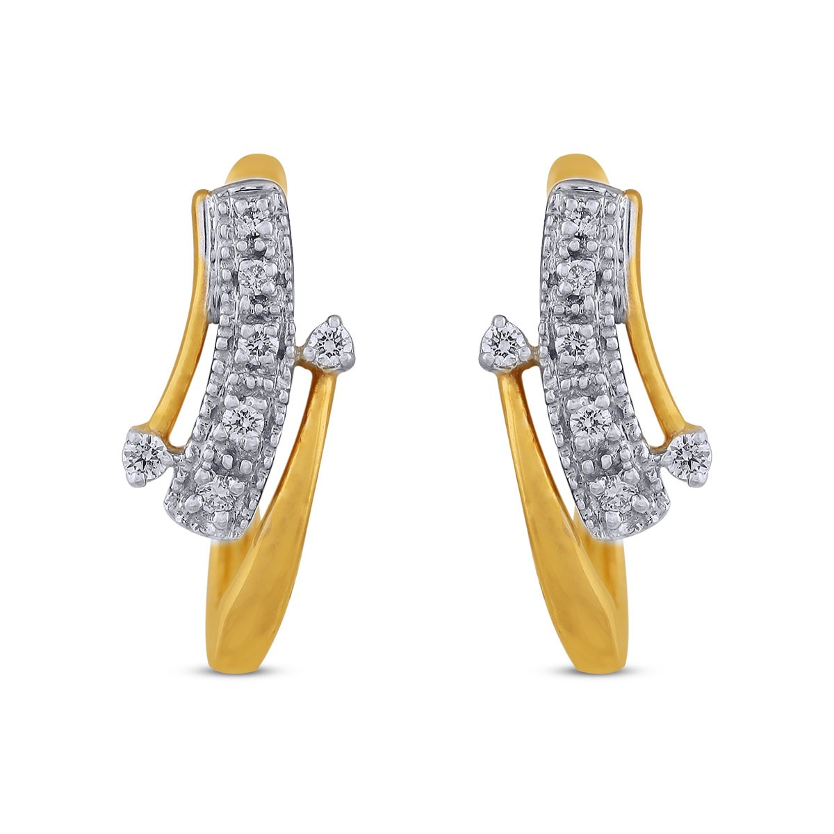 Mila Diamond & Yellow Gold Earrings