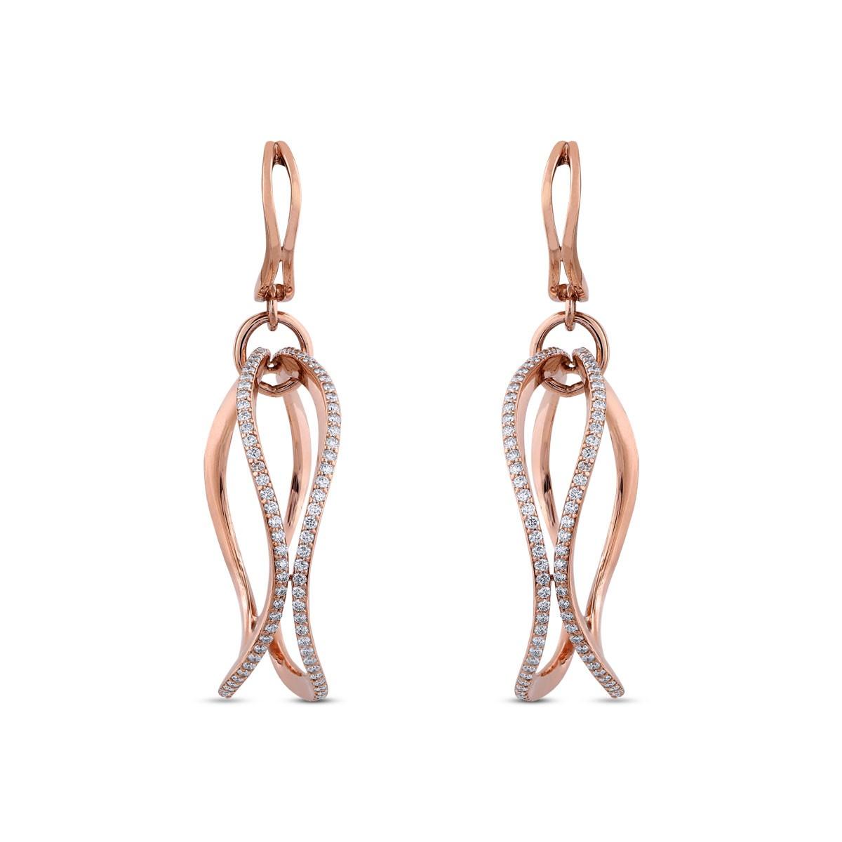 Miranda Diamond & Rose Gold Earrings