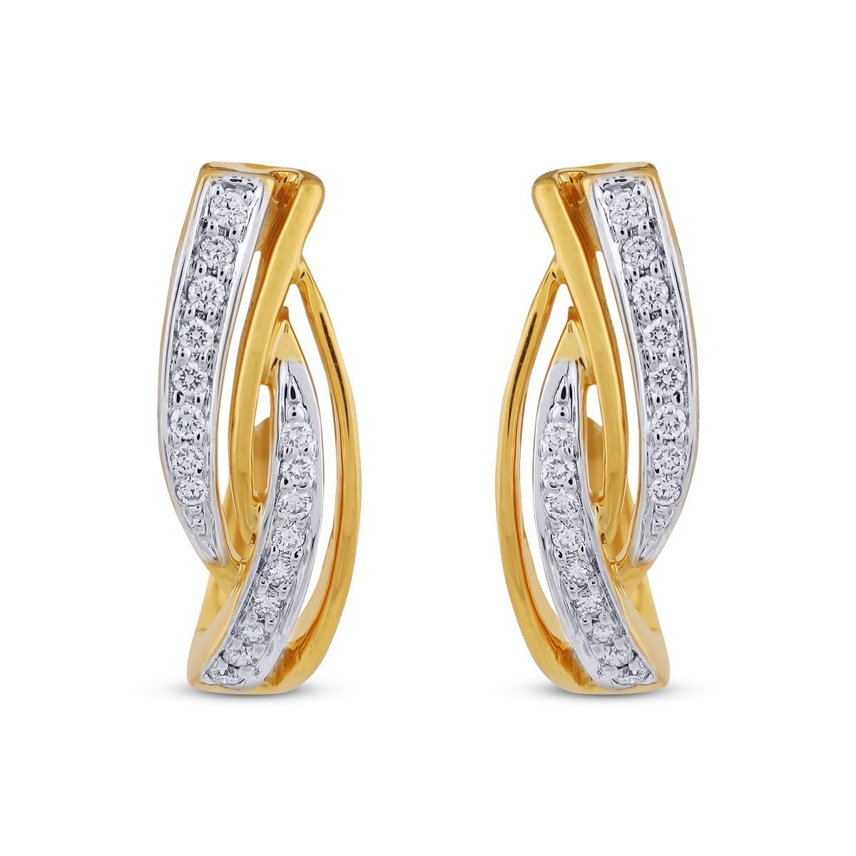 Chloe Diamond & Yellow Gold Earrings