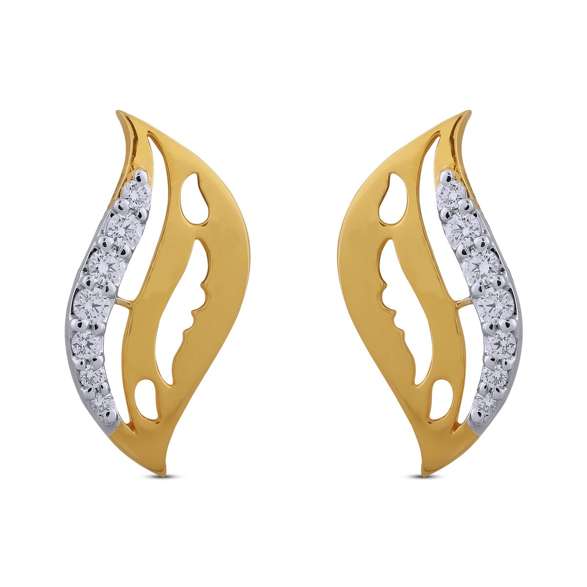 Fidaa Diamond & Yellow Gold Earrings