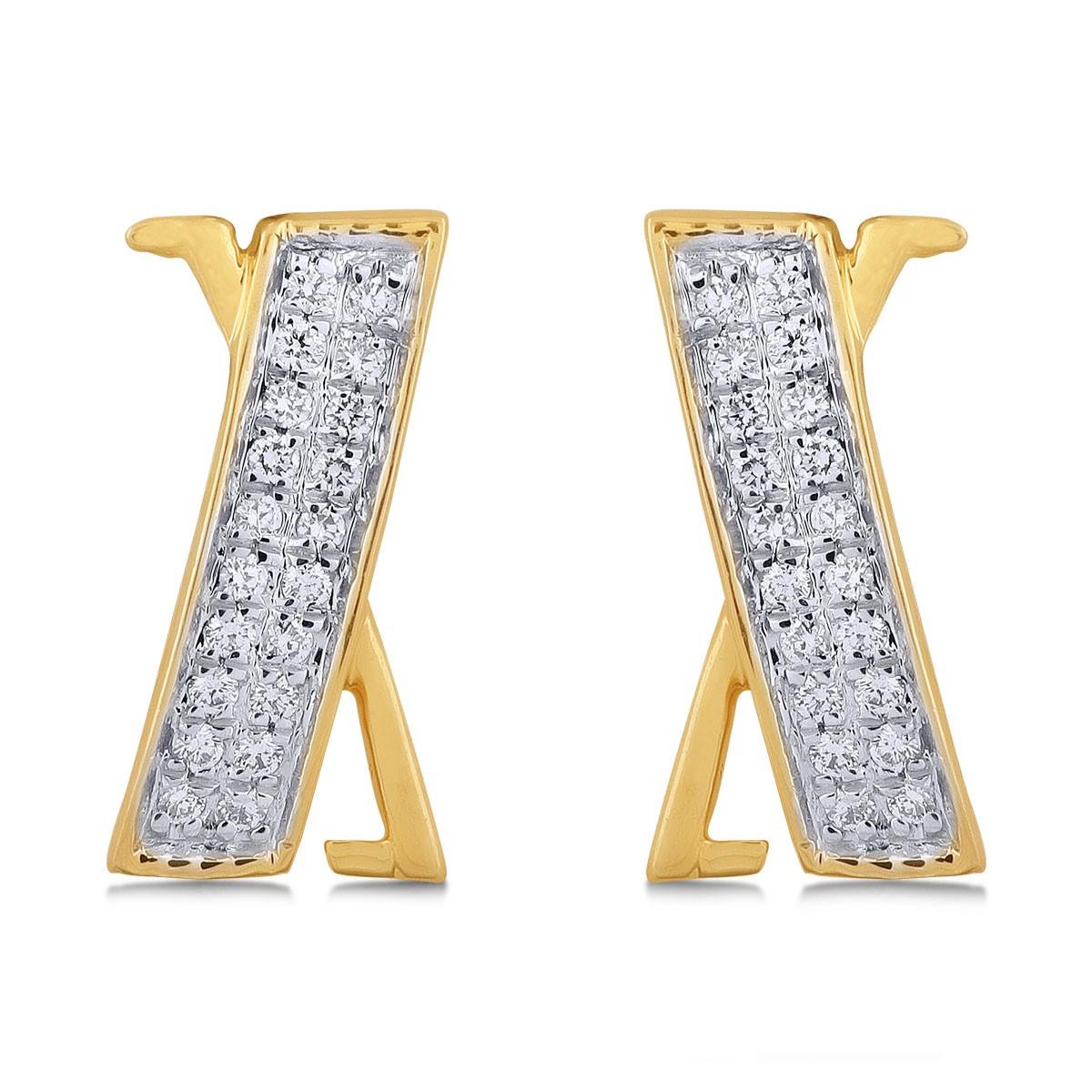 Salma Diamond & Yellow Gold Earrings