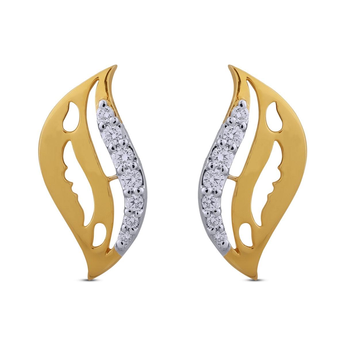 Maryam Diamond & Yellow Gold Earrings