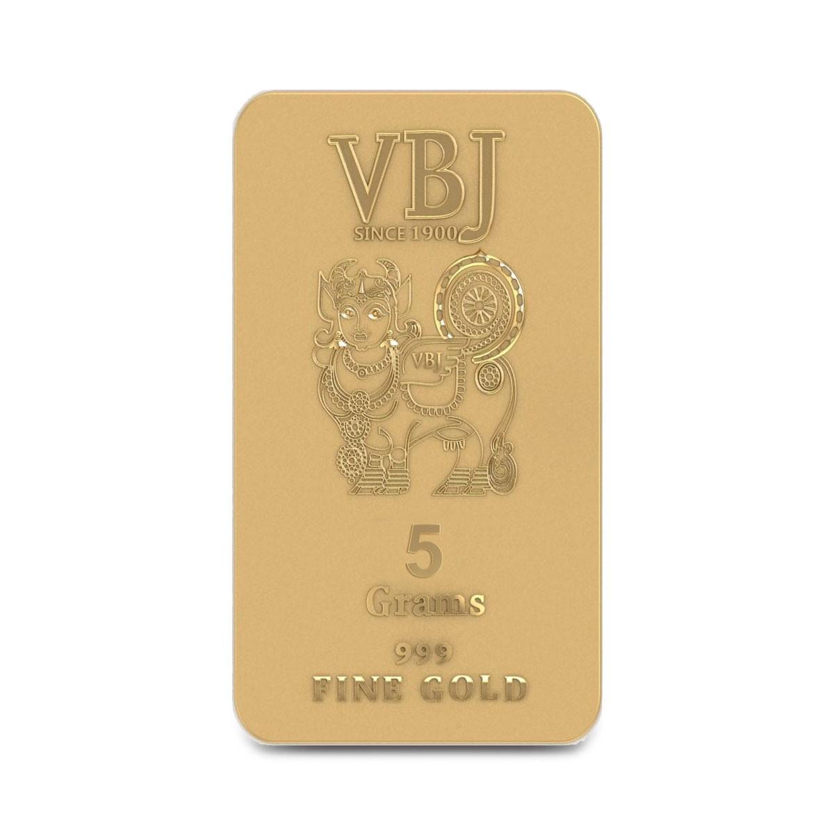 5 Gram 24Kt (999 Purity) Gold Bar