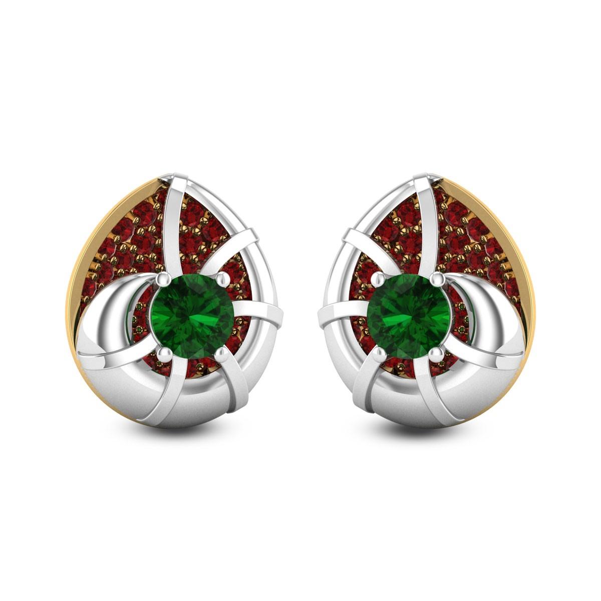 Colorful Snail Gemstone Earrings