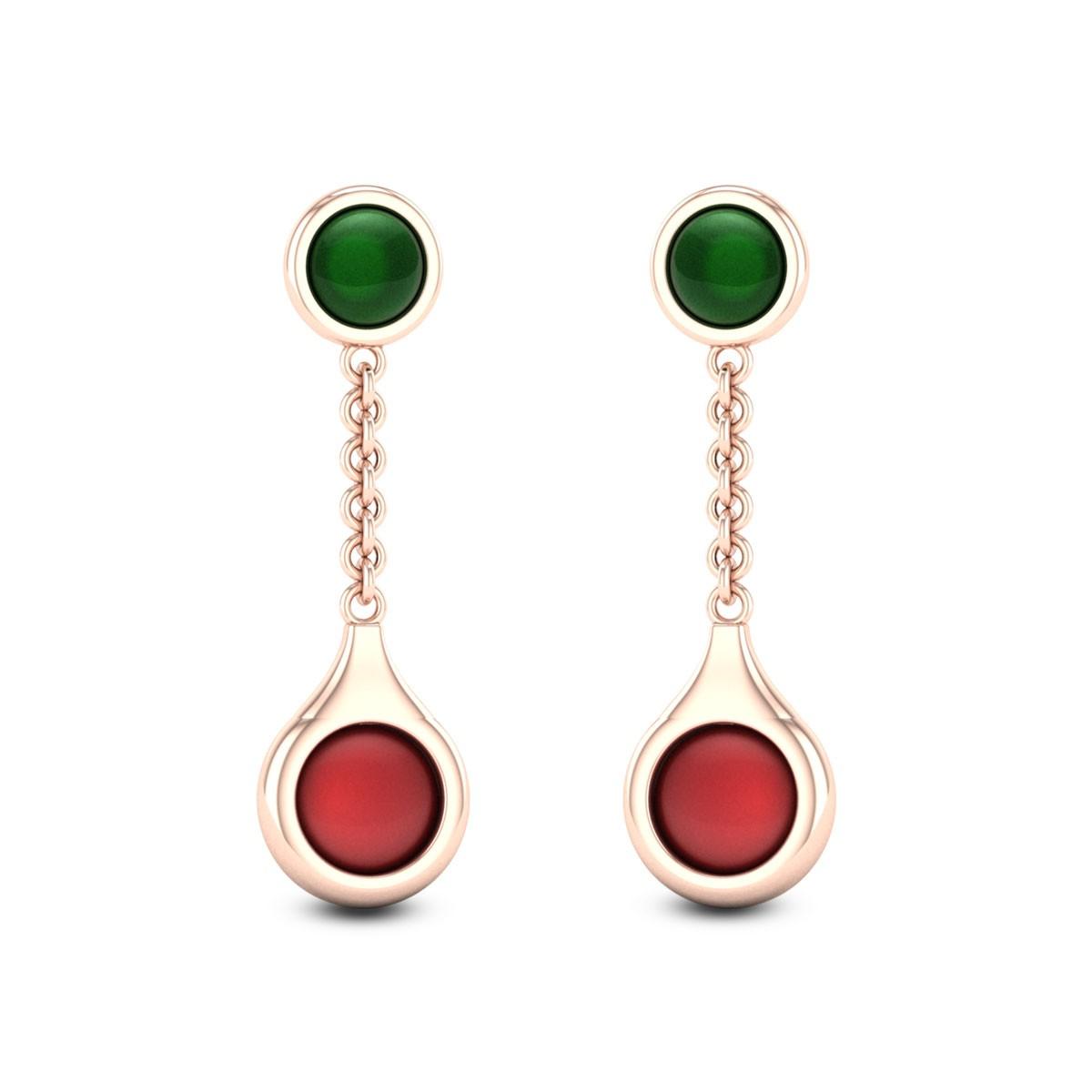 Amber Rose Gemstone Earrings