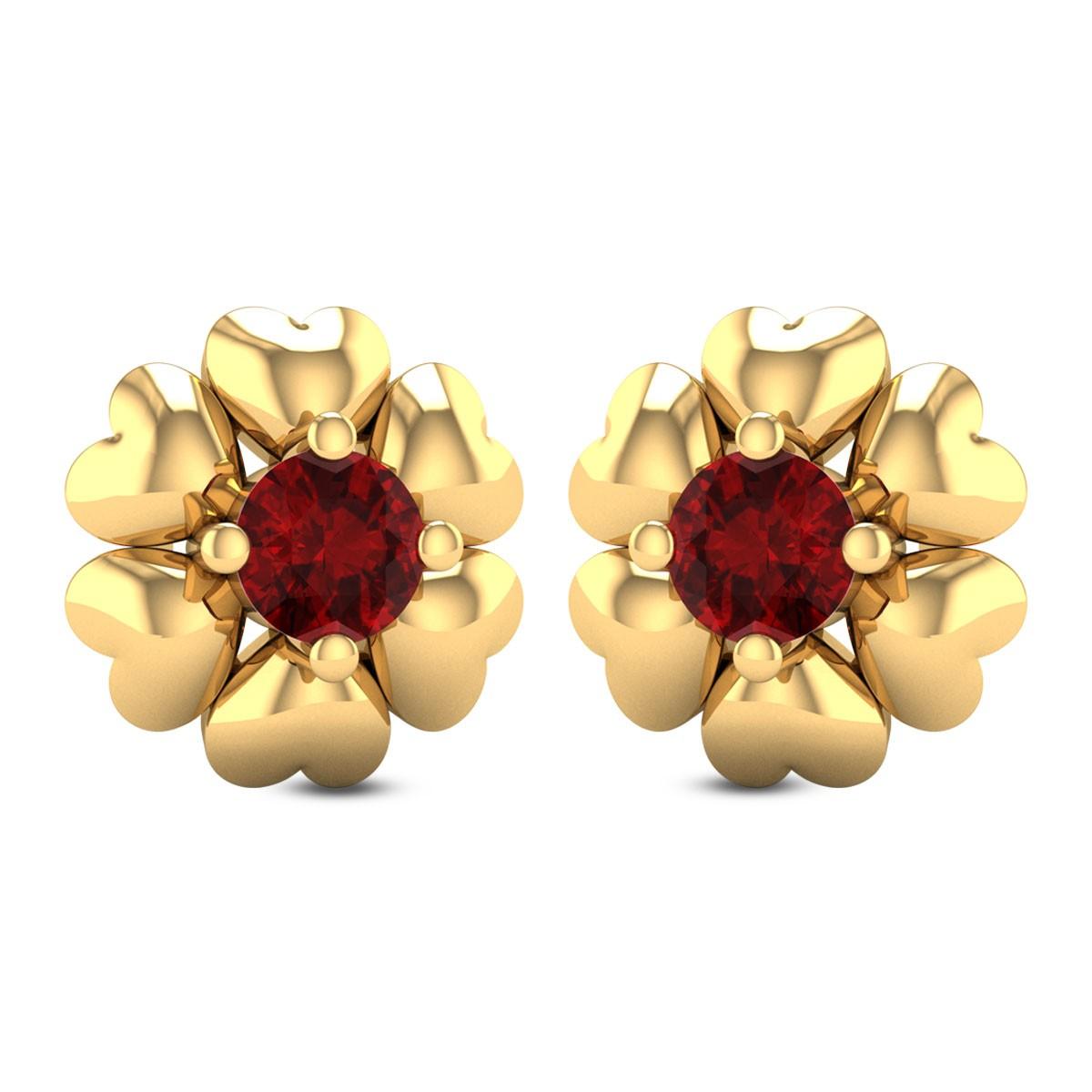 Heart Cluster Stud Earrings