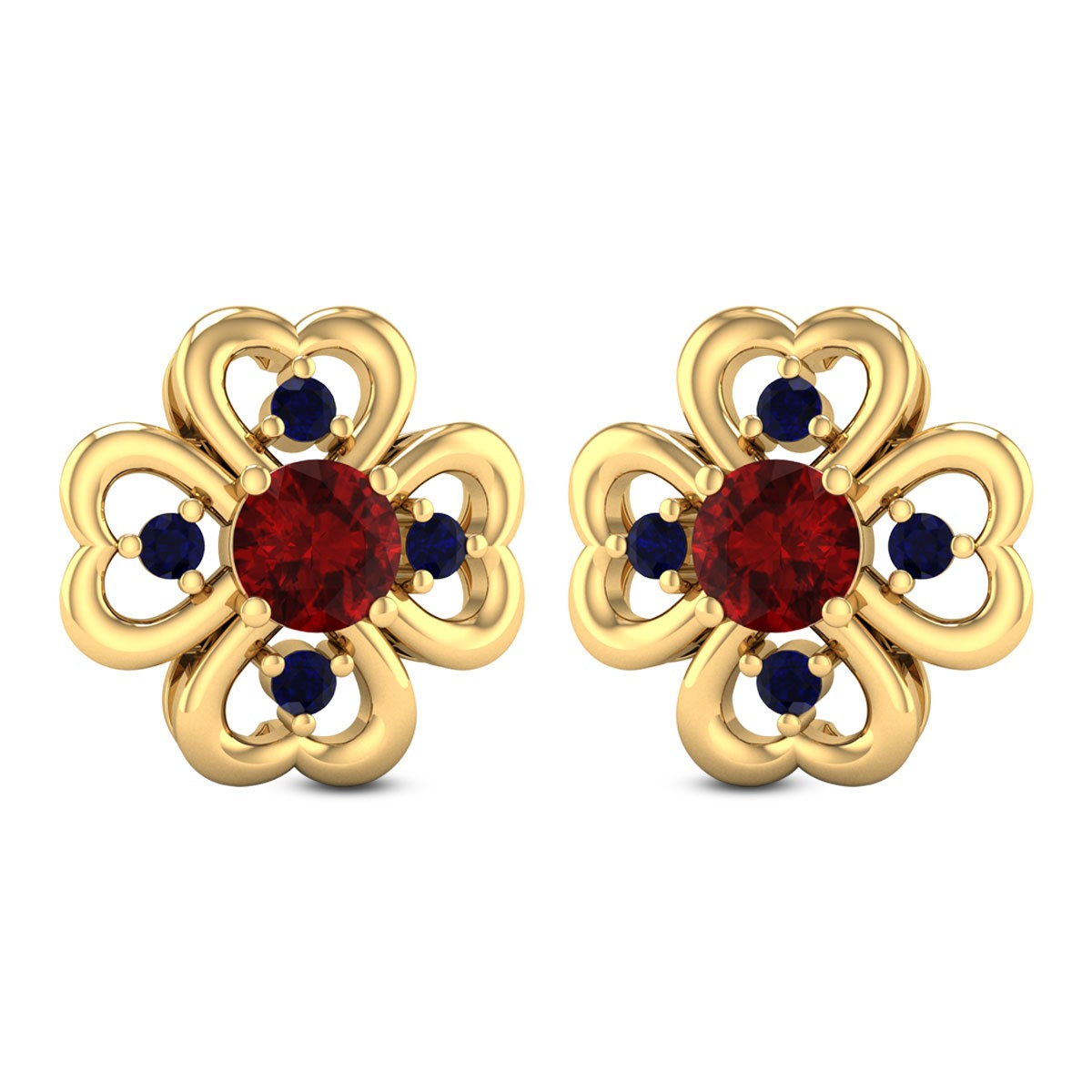 Coxcomb Floral Stud Earrings