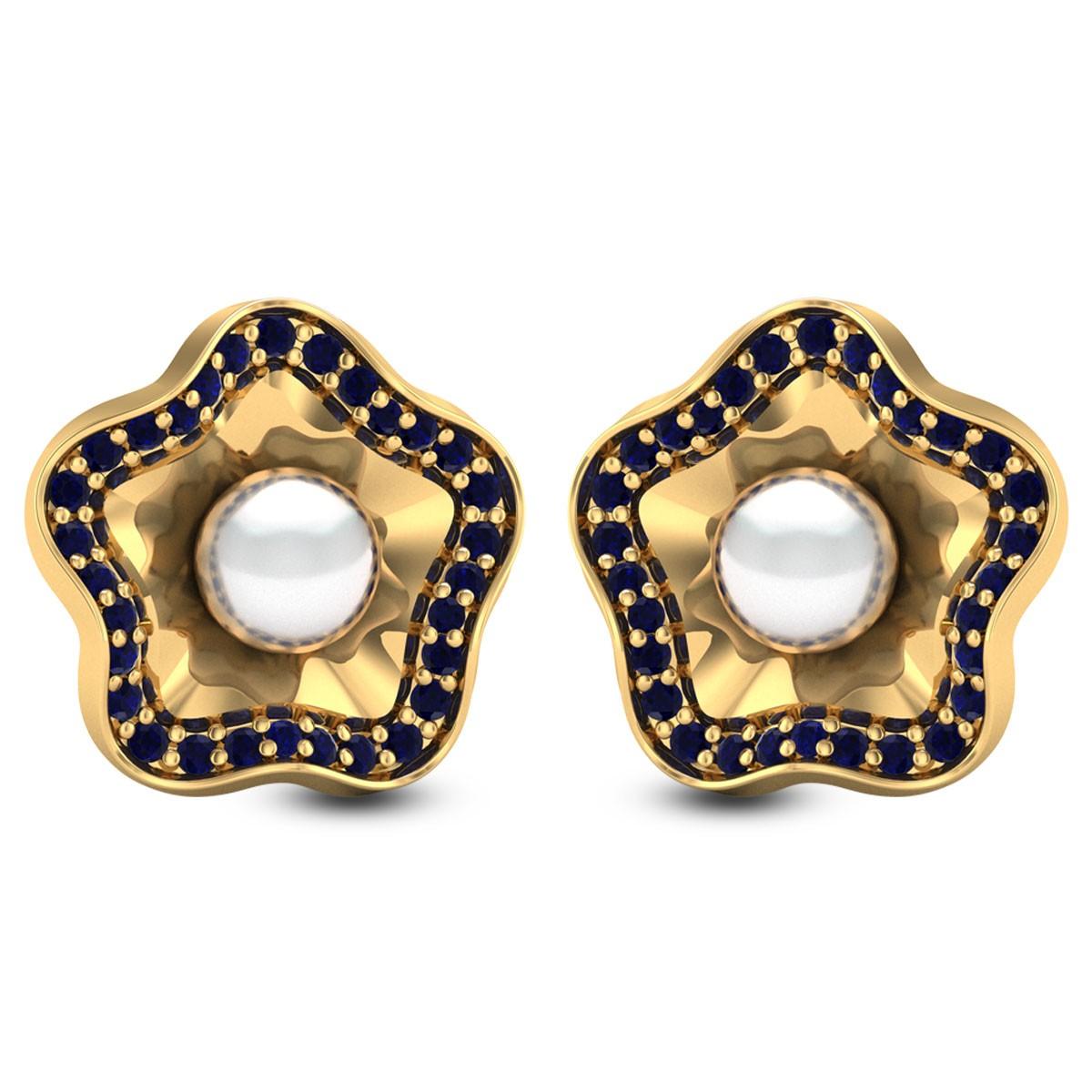 Eremurus Pearl Stud Earrings