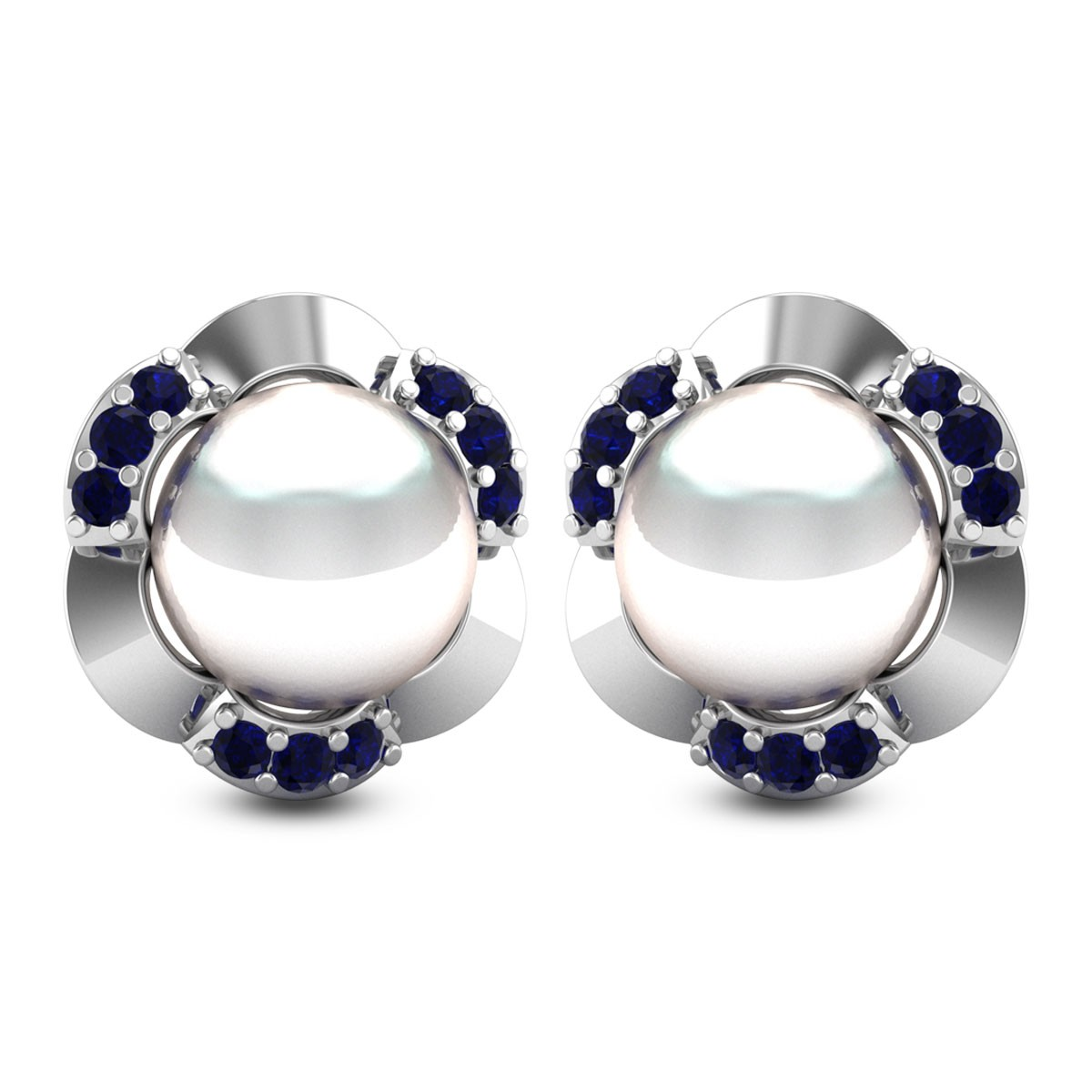Pearl Bloom Stud Earrings