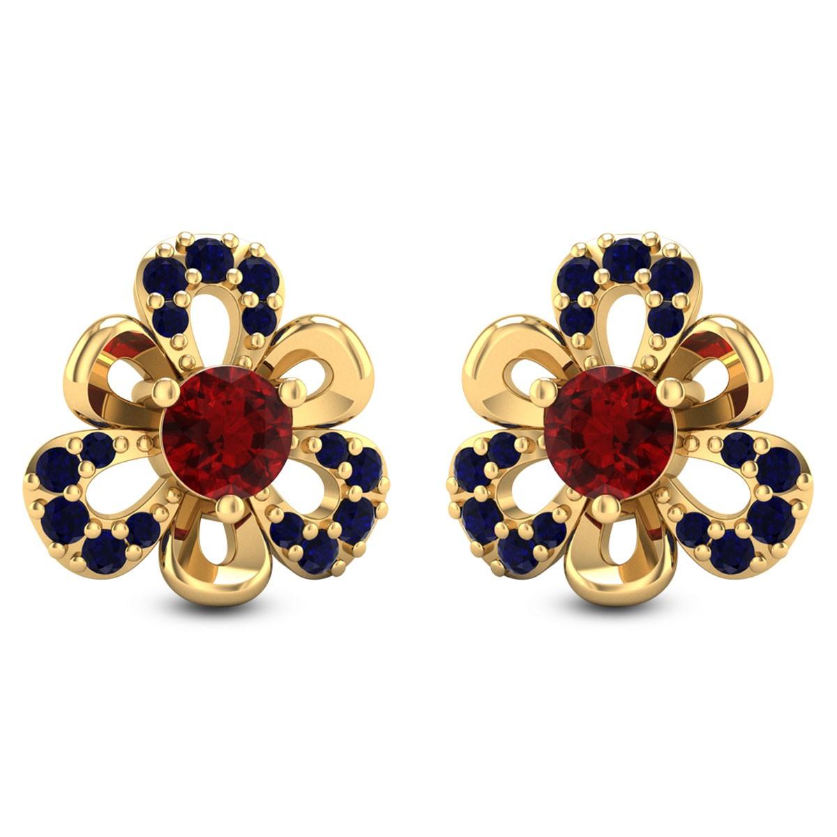Eustoma Stud Earrings
