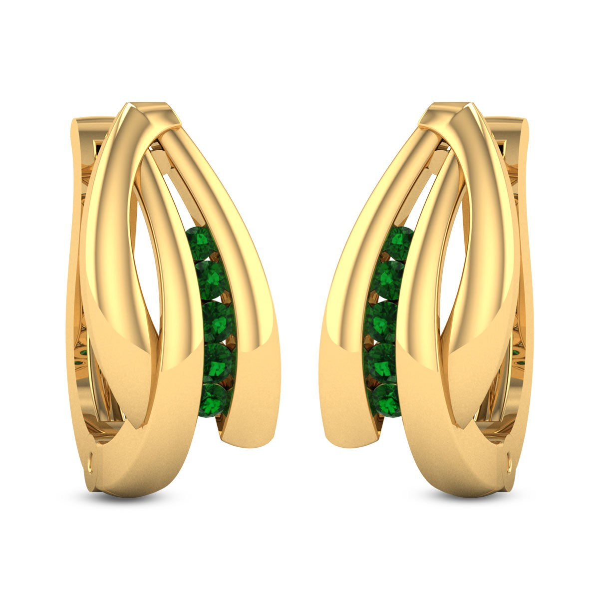 Scabiosa Hoop Earrings