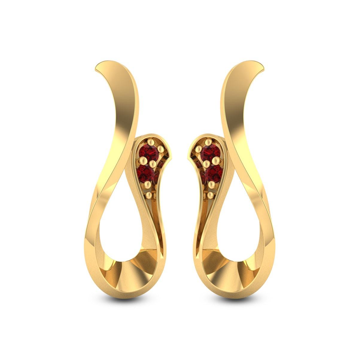 Ruby Cobra Stud Earrings