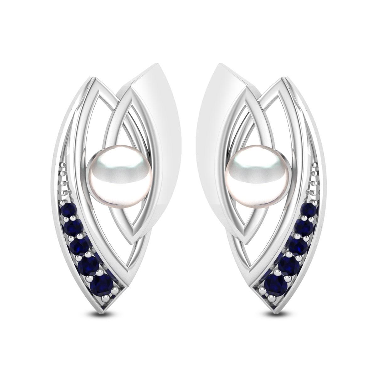 Matthiola Sapphire Stud Earrings
