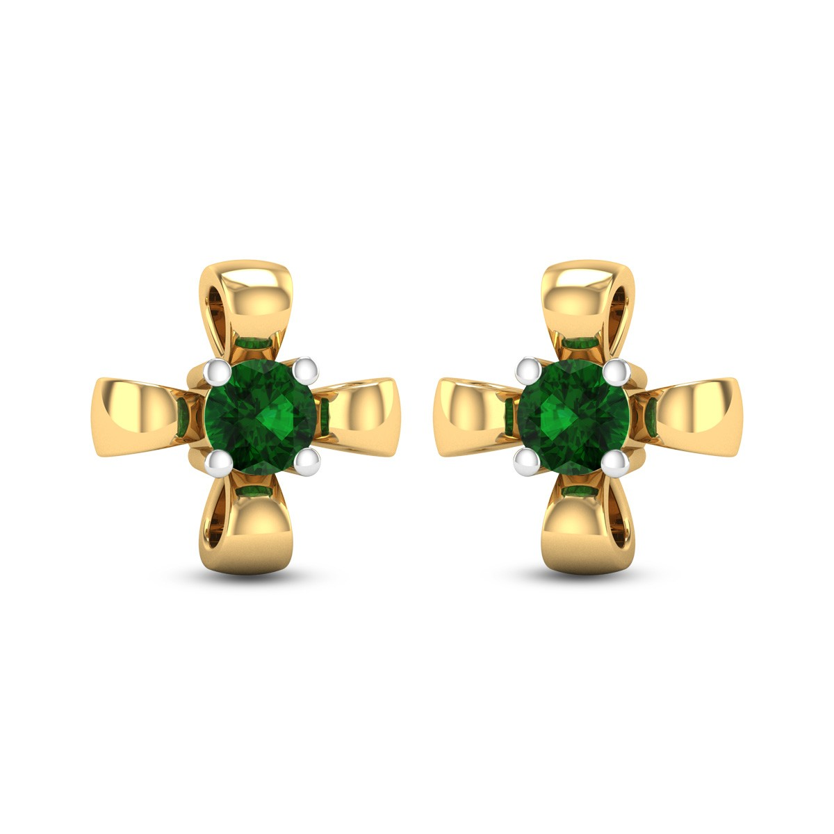 Sohini Emerald Stud Earrings
