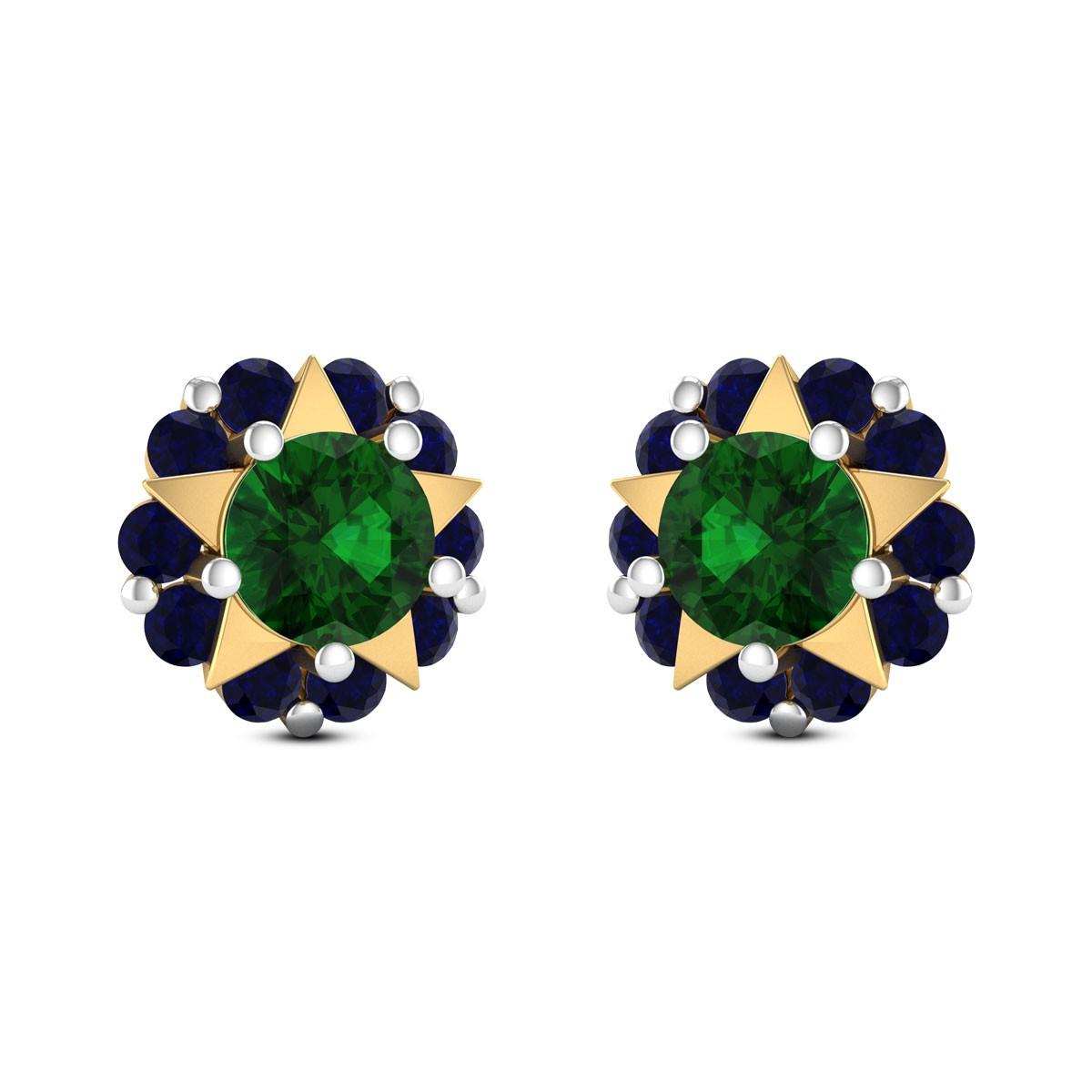 Floral Star Stud Earrings