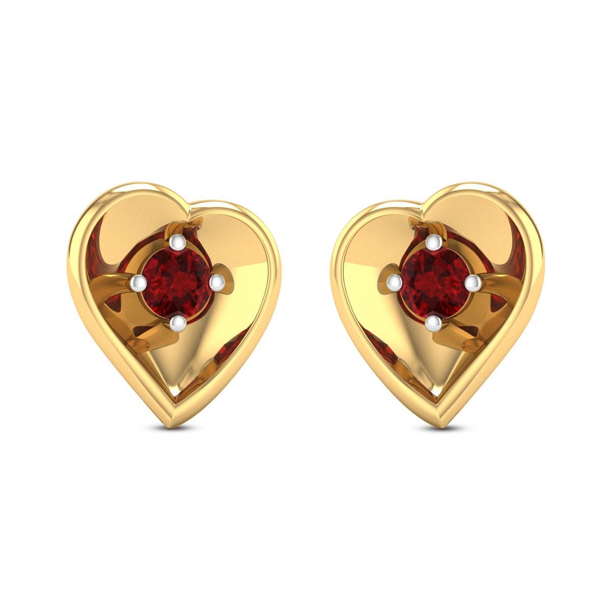 Sahana Heart Stud Earrings