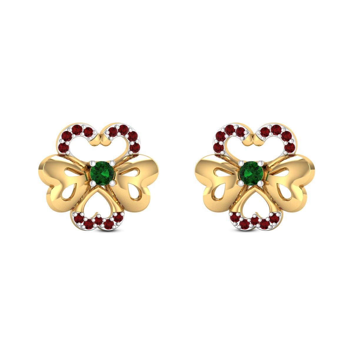 Pansies Stud Earrings