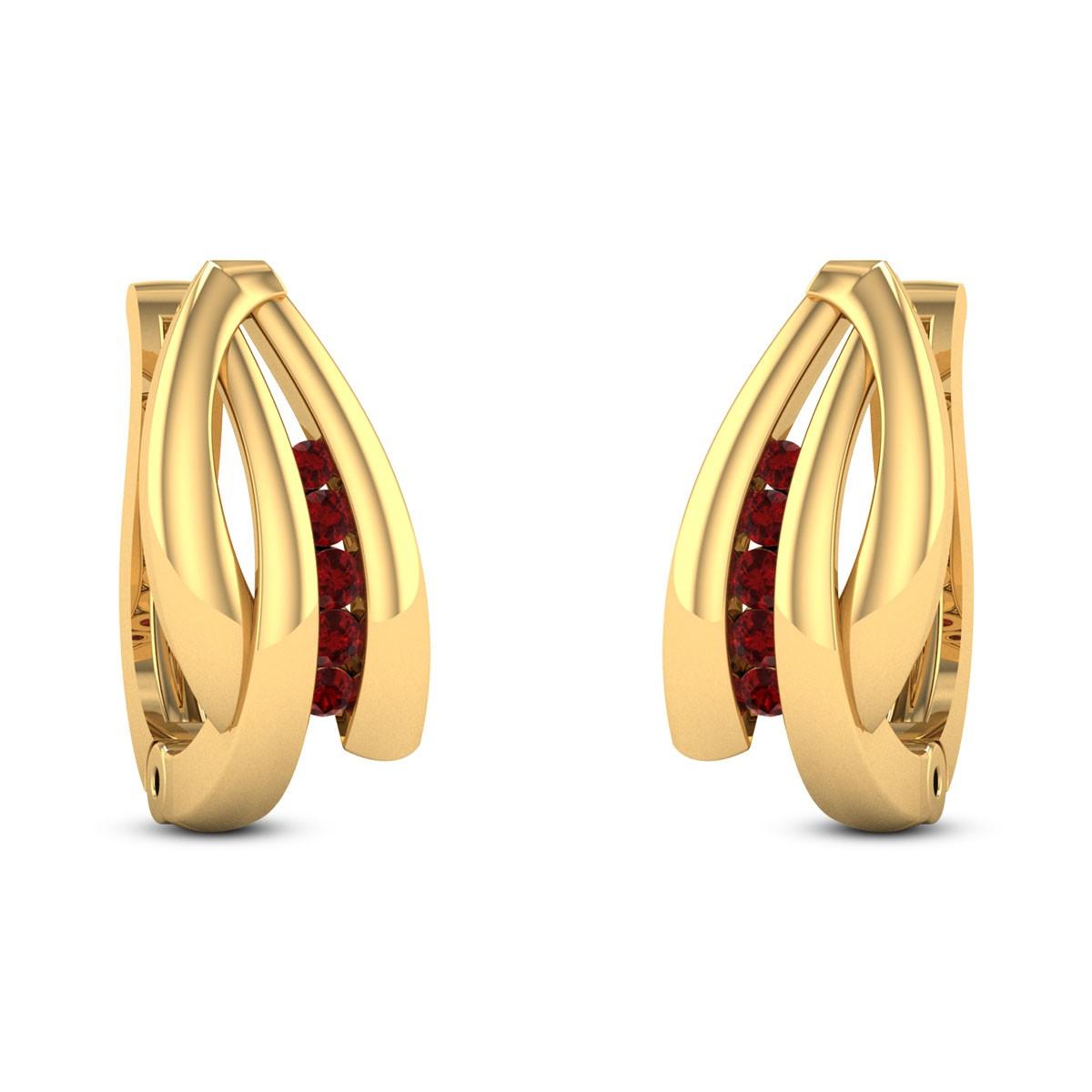 Scilla Ruby Stud Earrings