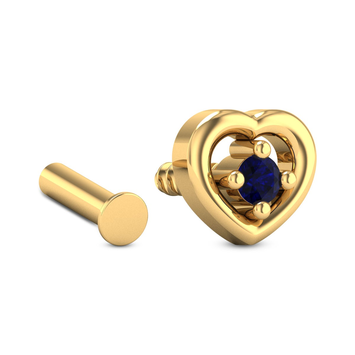 Iccha Sapphire Heart Nosepin