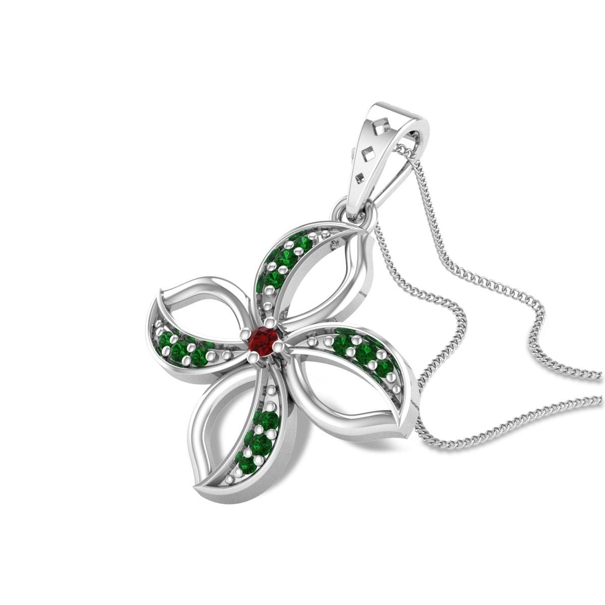 Akantha Emerald Flower Pendant