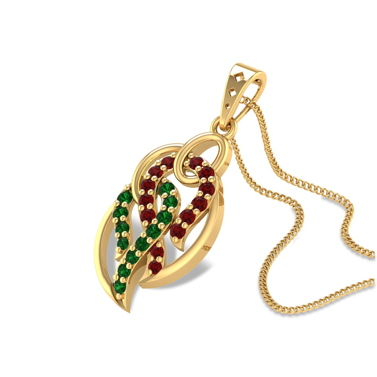Anthea Ruby and Emerald Pendant