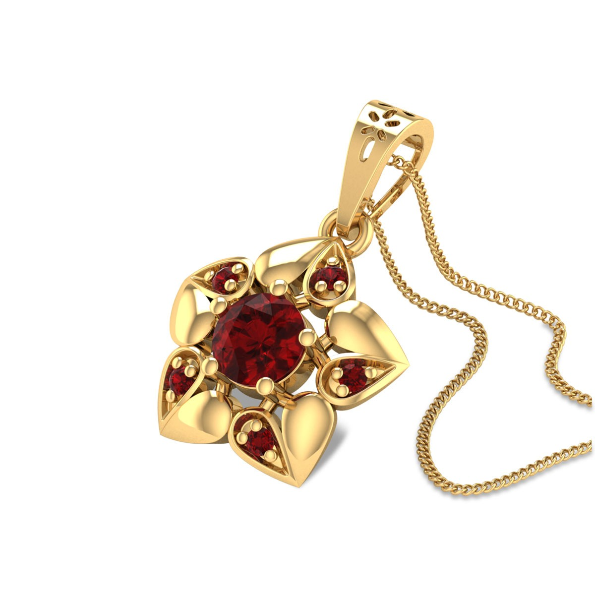 Hesperus Ruby Floral Pendant