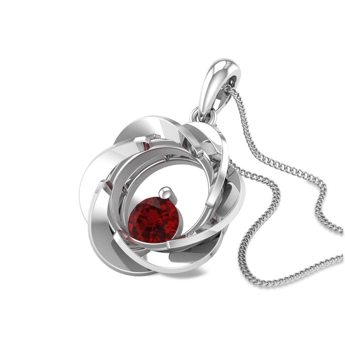 Euterpe Ruby Floral Pendant