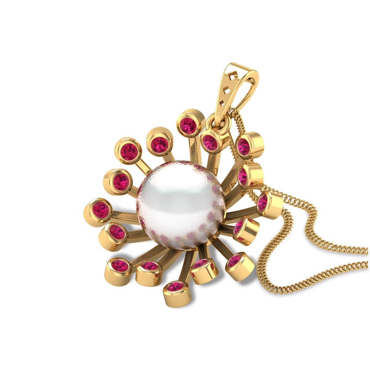 Blooming Pearl Pendant