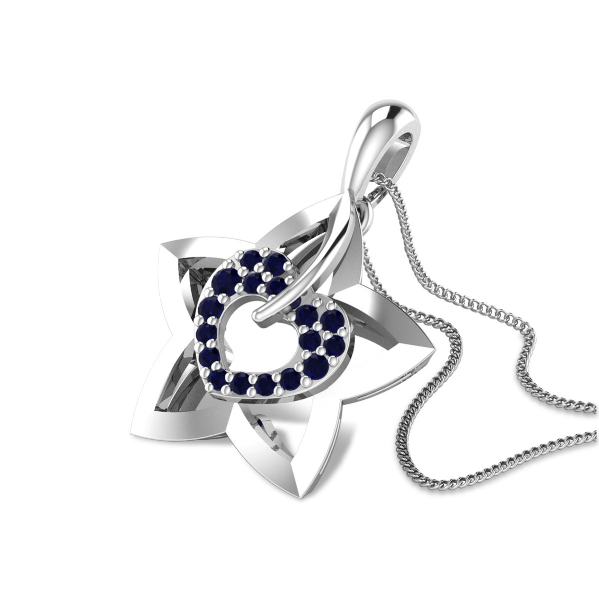Star Heart Pendant