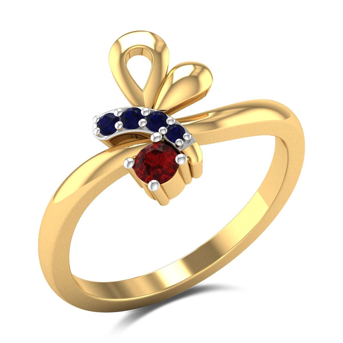Flying Bee Gemstone Ring