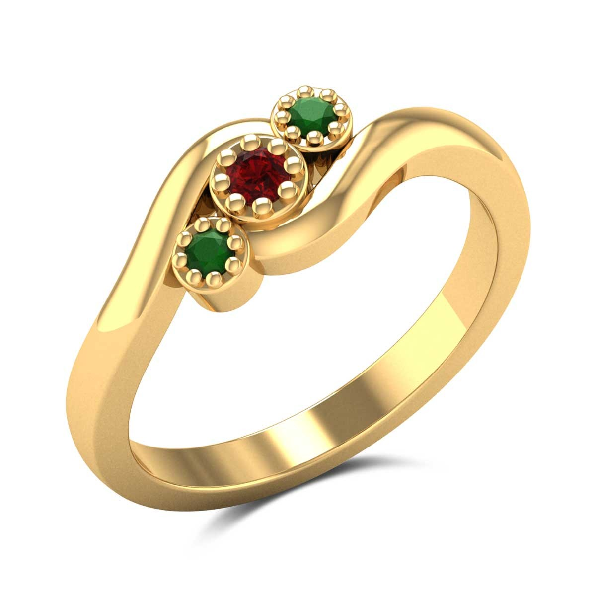 Jocasta Three Stone Ring