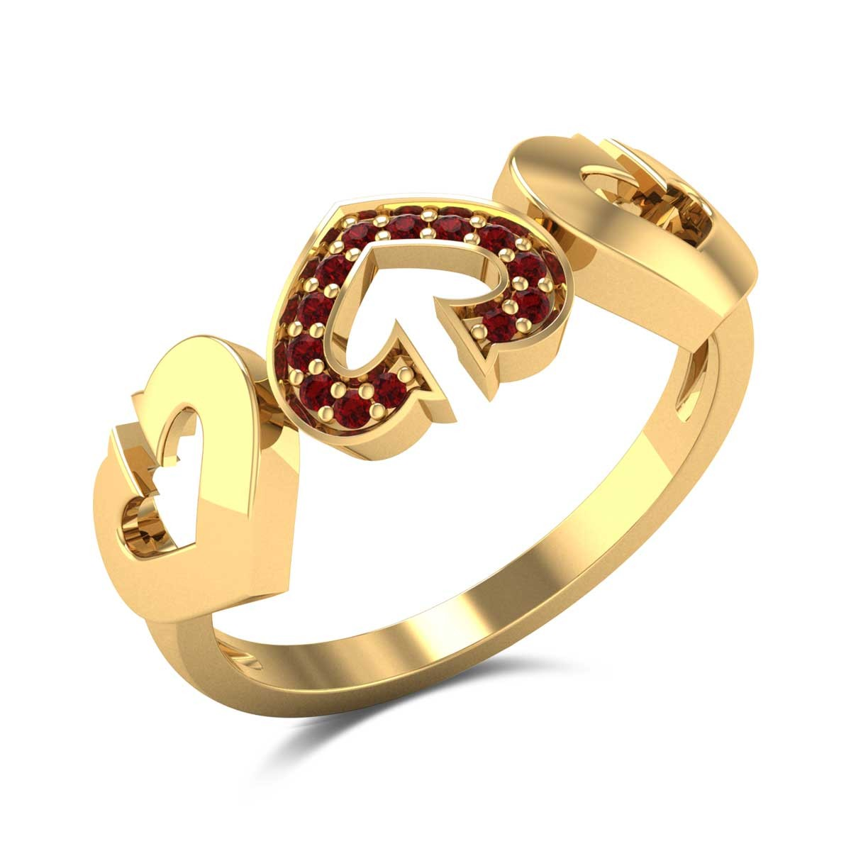 You and Me Ruby Heart Ring