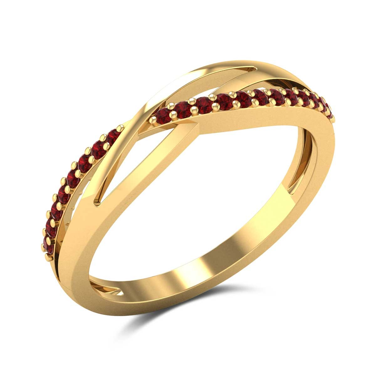 Wavy Ruby Ring
