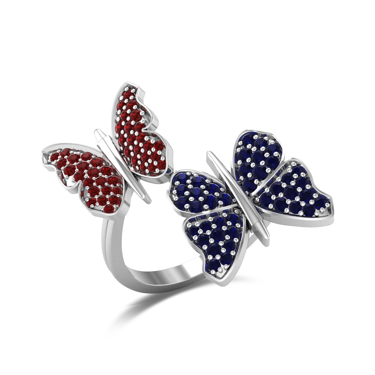 Twin Butterfly Ring