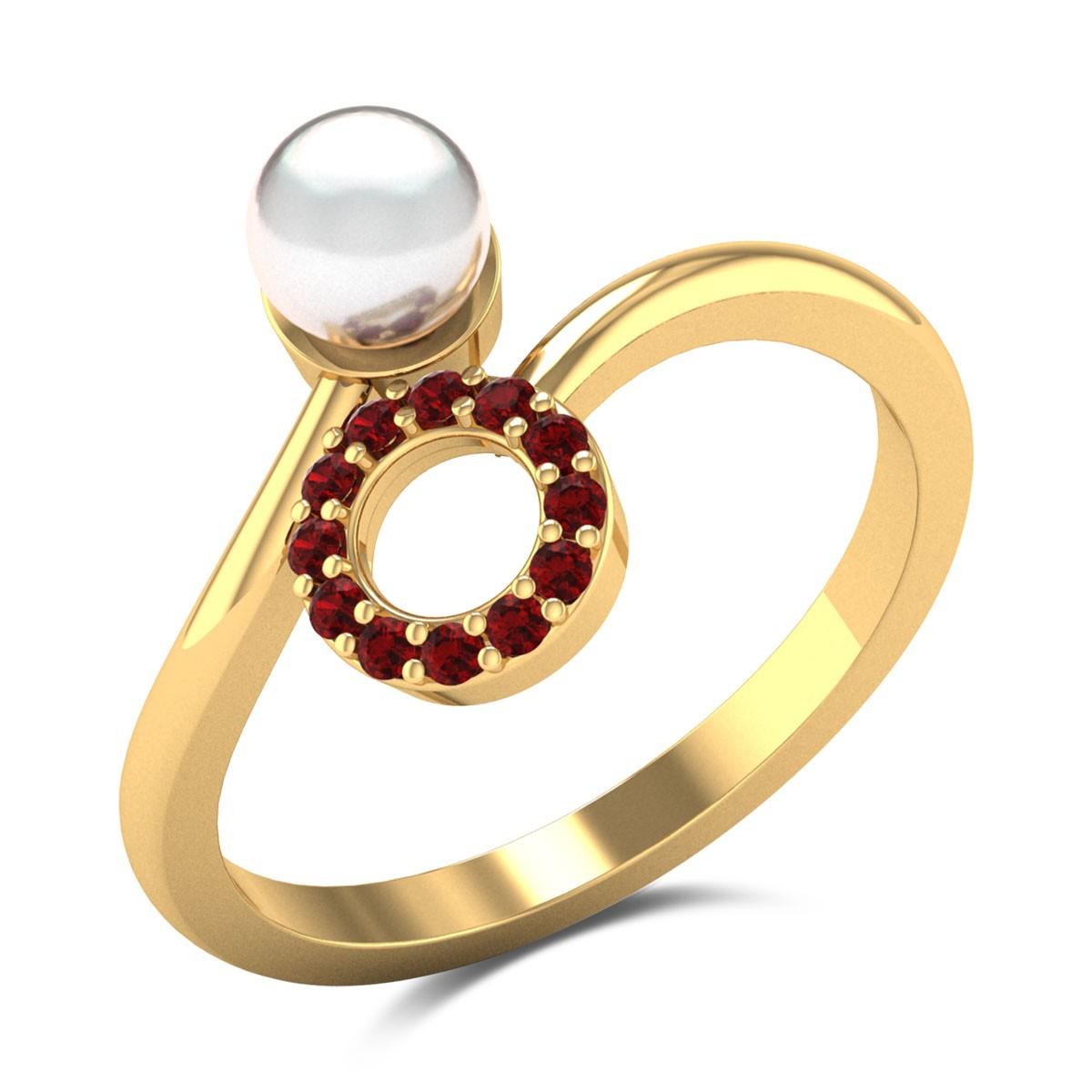 Charishma Pearl Cross Ring