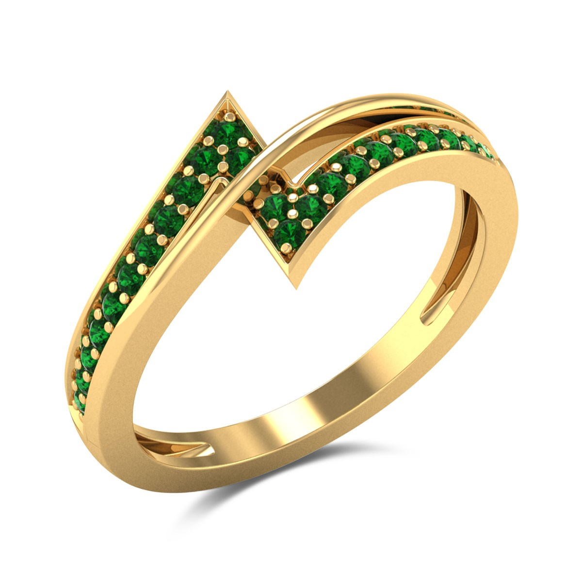 Emerald Band Ring