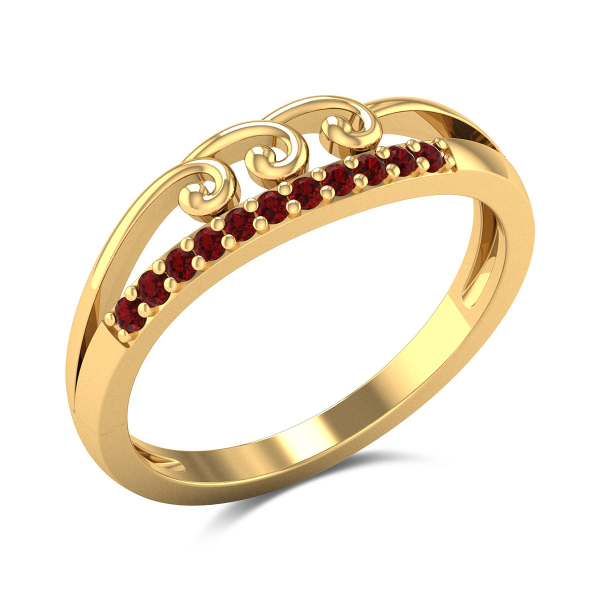 Cosima Ruby Split Band Ring