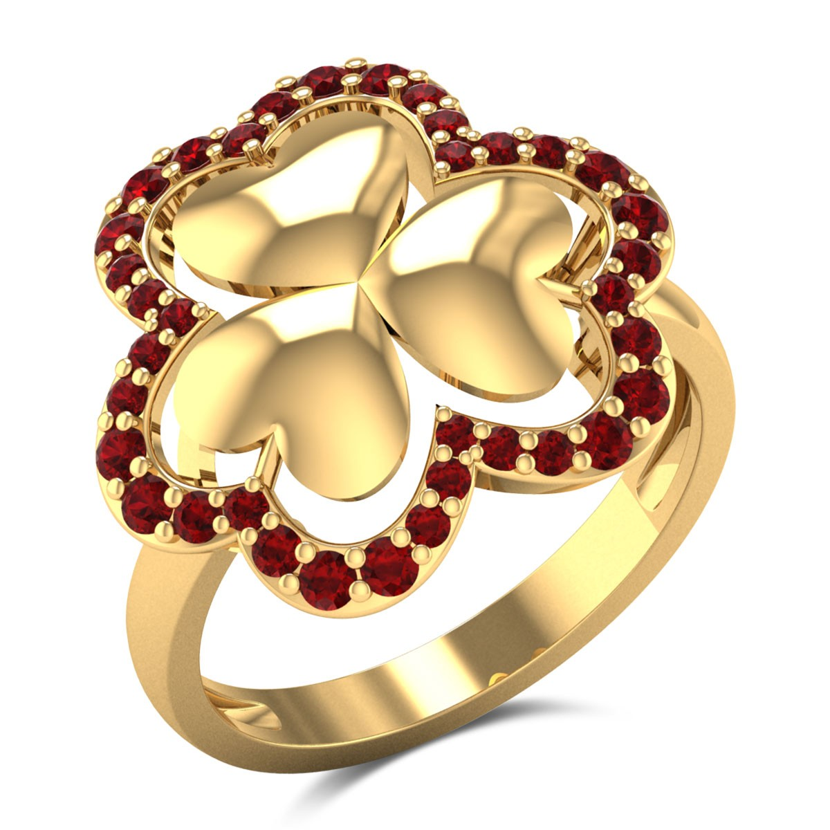 Chalin Ruby Floral Ring