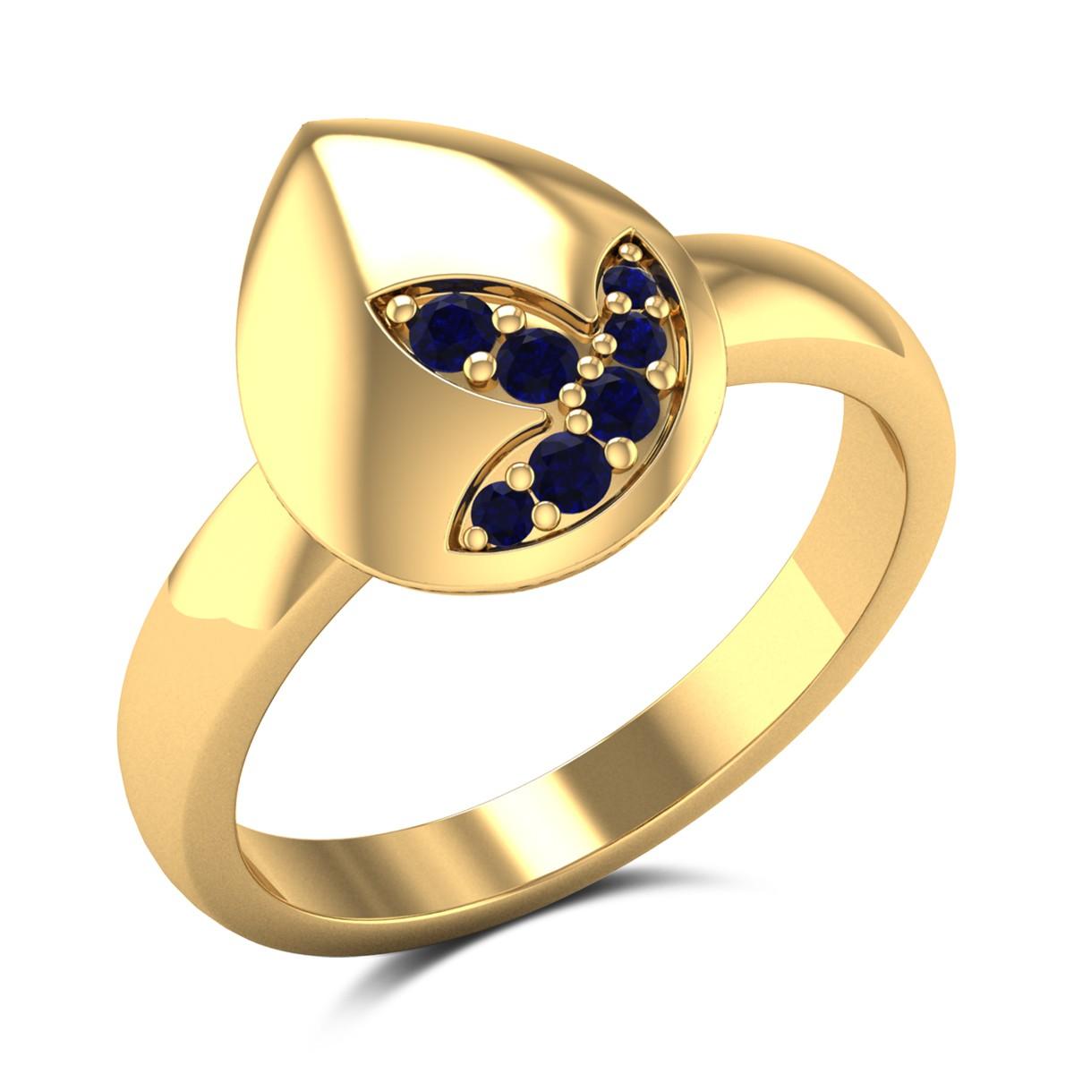 Sapphire Bud Ring