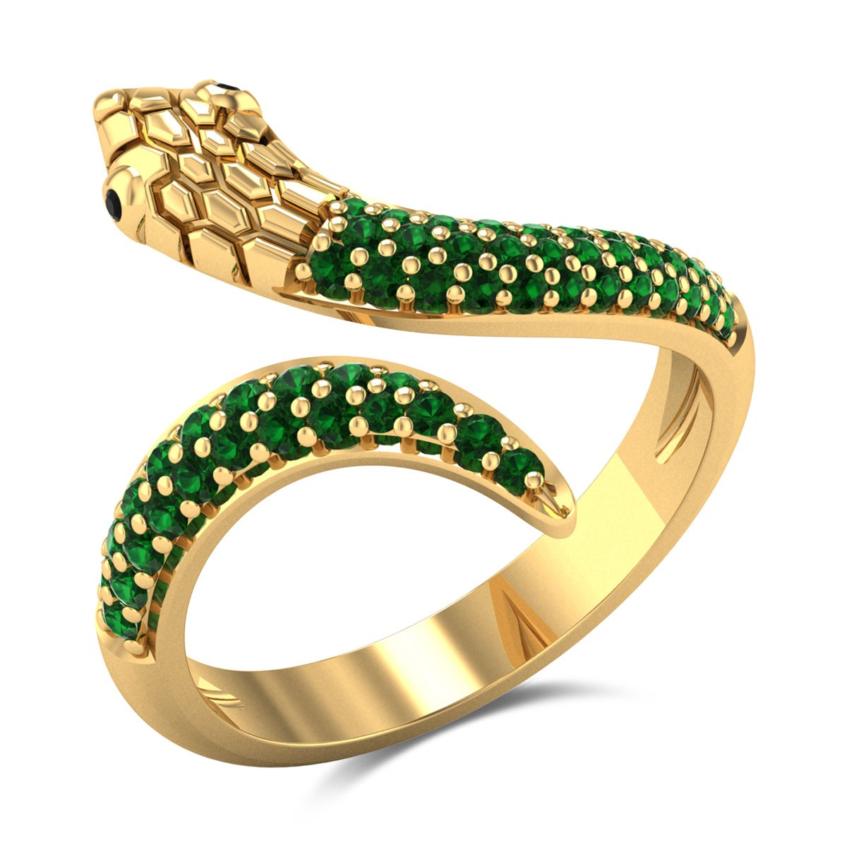 Emerald Serpent Ring
