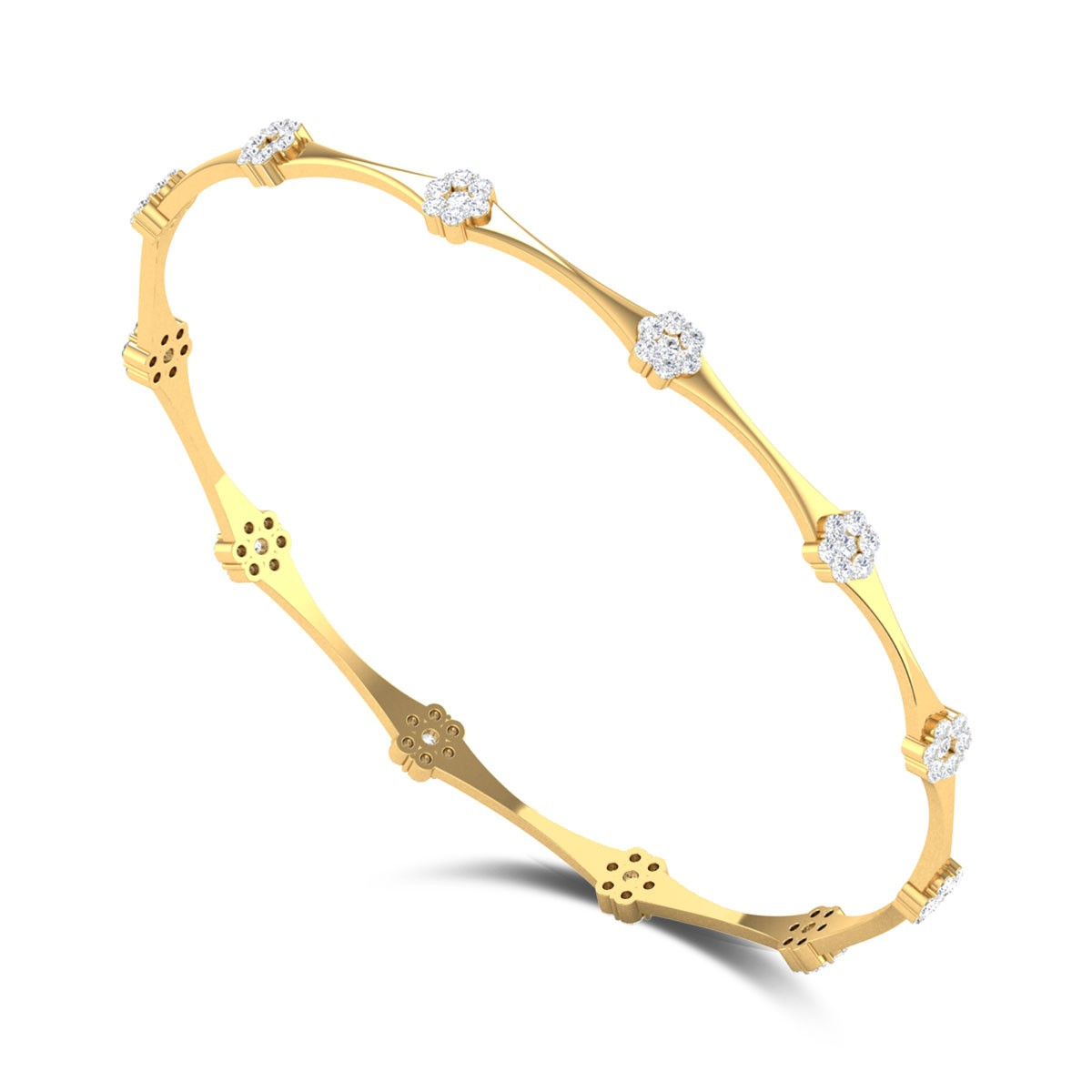 Classic Seven Stone Diamond Bangle