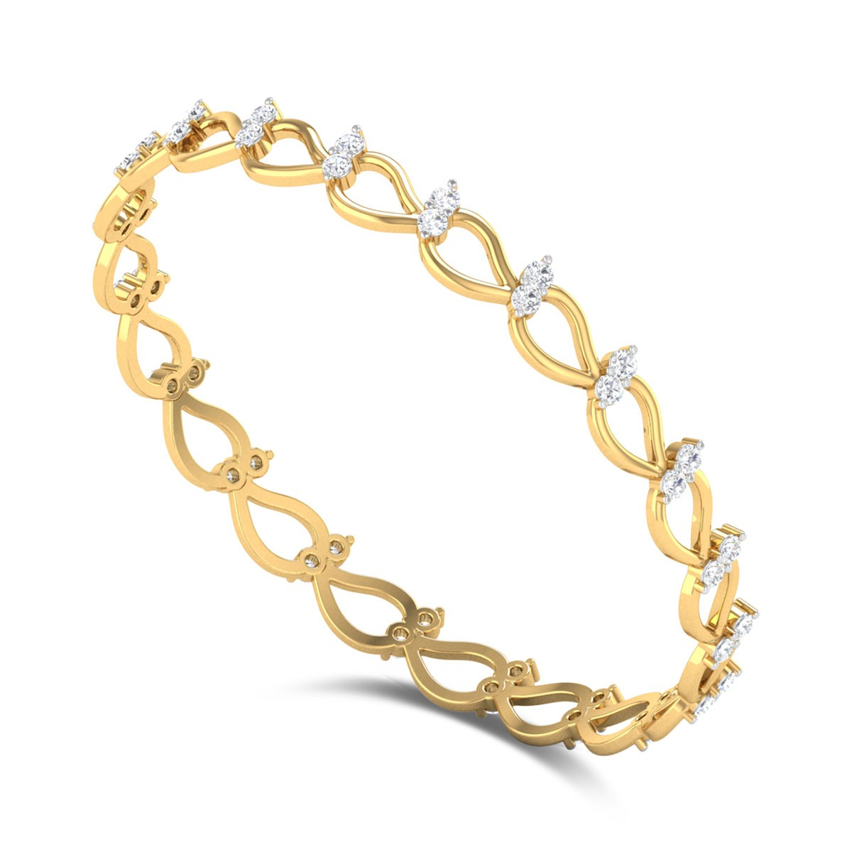 Lechenaultia Diamond Bangle