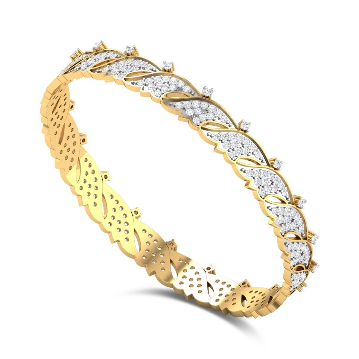 Horn Diamond Bangle