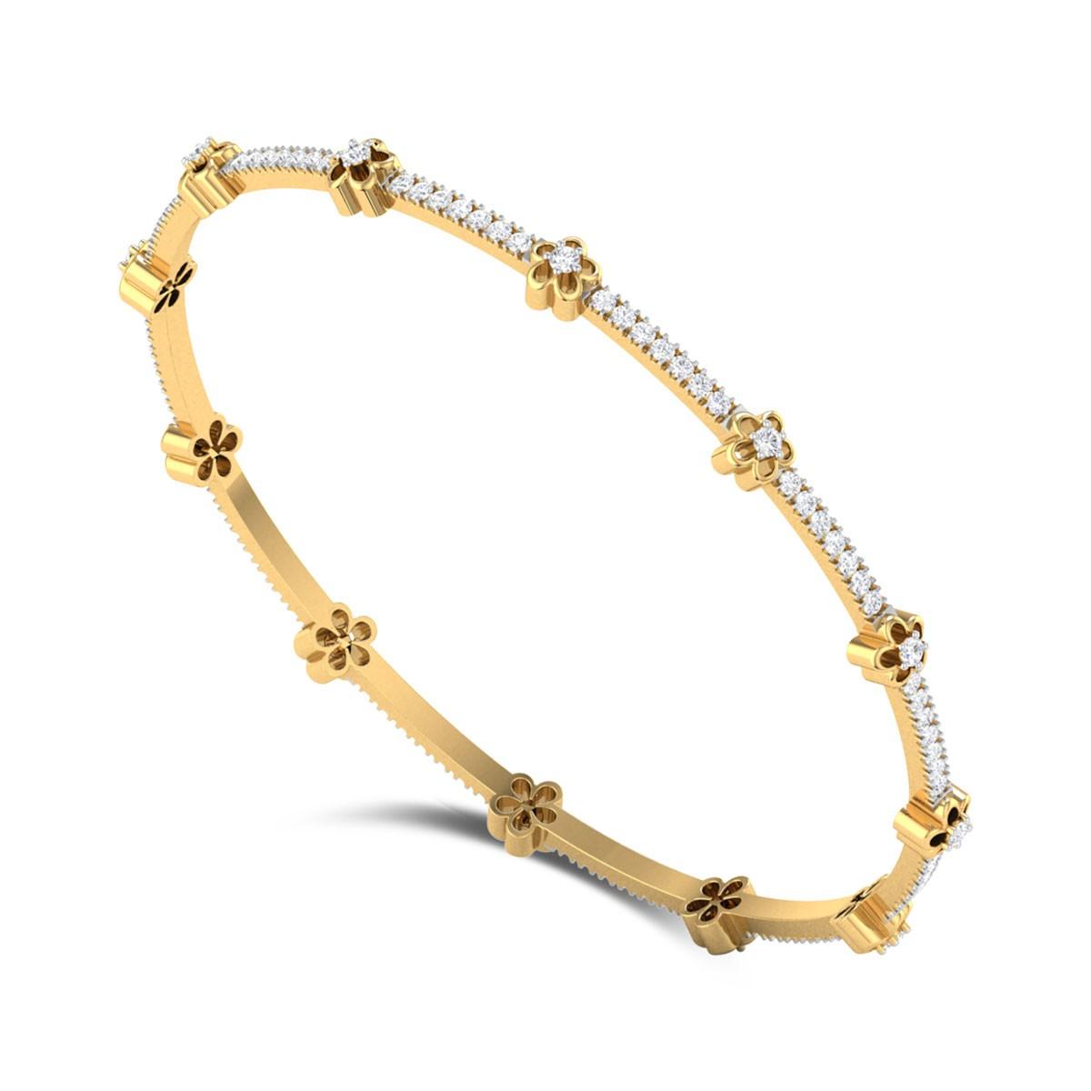 Flower Stars Diamond Bangle
