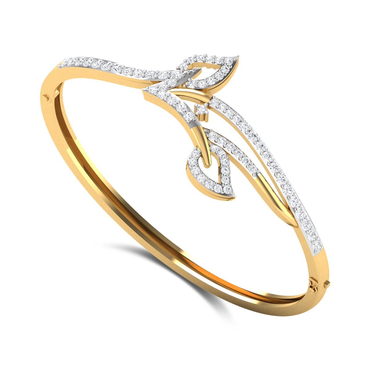 Broderick Leafy Openable Diamond Bangle